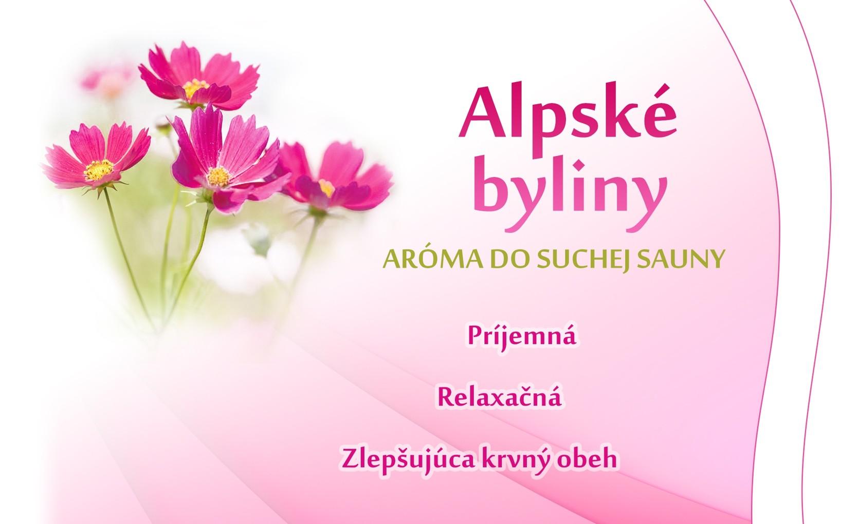 Alpské bylinky - suchá sauna