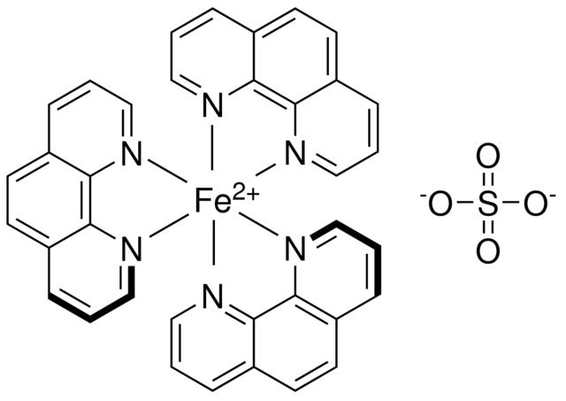 Feroin roztok  1/40 M (0,025 mol/l)